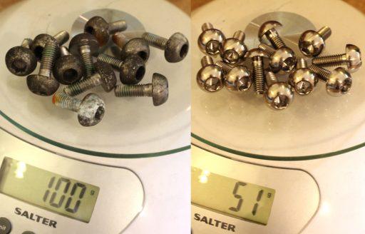 4.5gm each Save 50gm with 12 bolt set NSR250 MC28 TITANIUM disc bolt