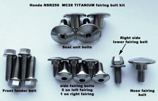 NSR250 full TITANIUM fairing bolt kit